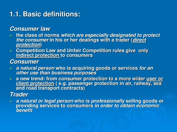 1.1. Basic definitions: