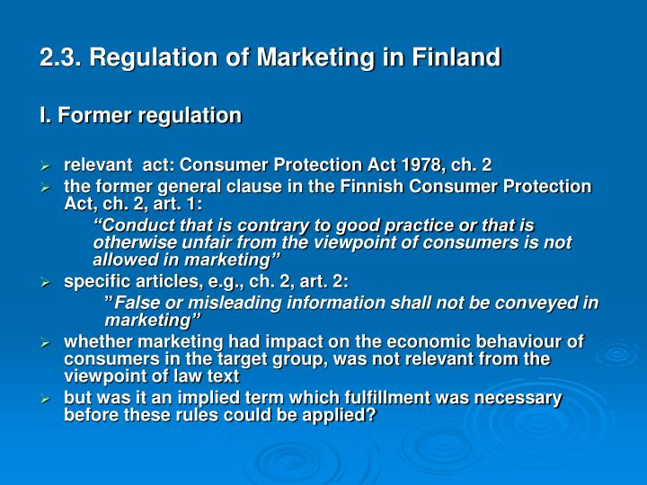 2.3. Regulation of Marketing in Finland