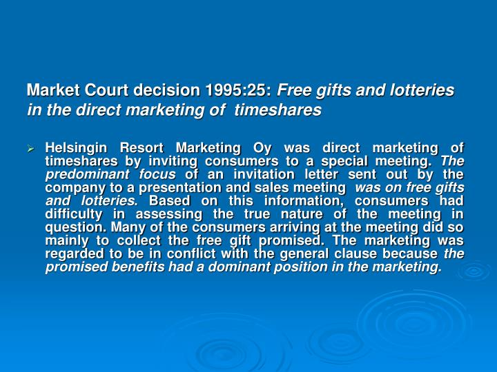 Market Court decision 1995:25: