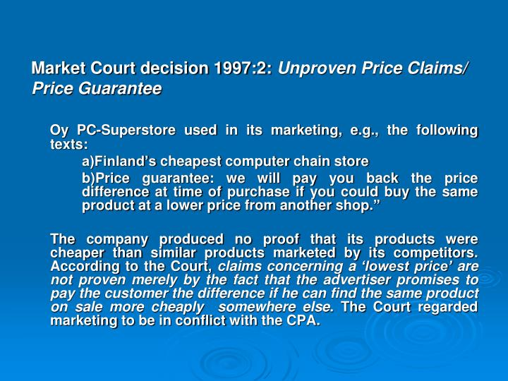 Market Court decision 1997:2: