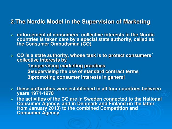 2.The Nordic Model in the Supervision of Marketing