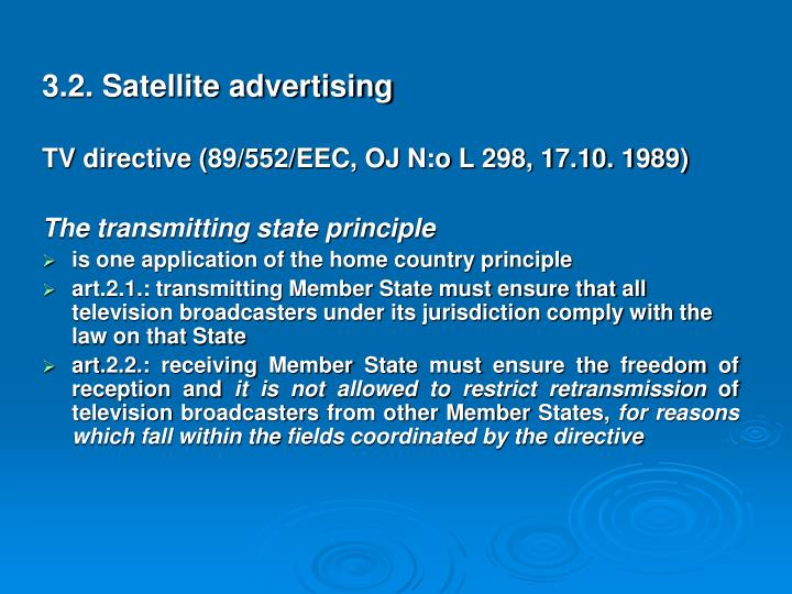 3.2. Satellite advertising