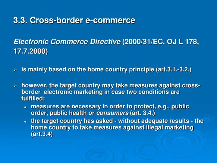3.3. Cross-border e-commerce