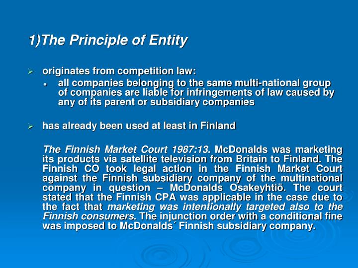 1)The Principle of Entity
