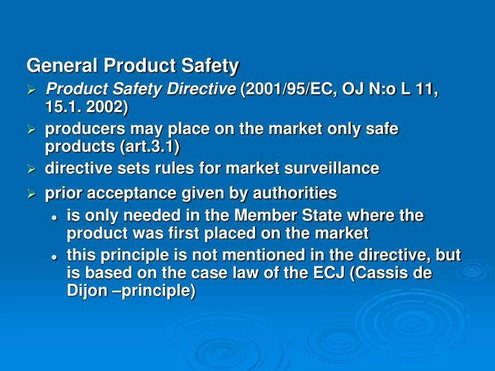 General Product Safety
