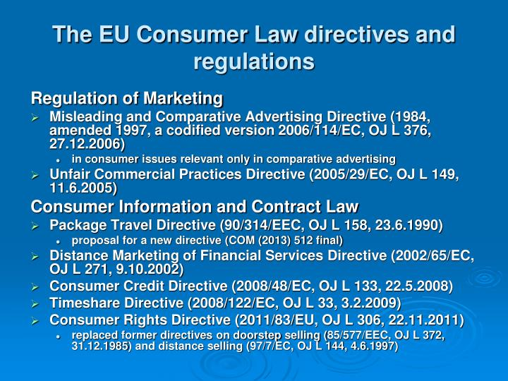 The EU Consumer Law