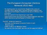 the european consumer centres network ecc net