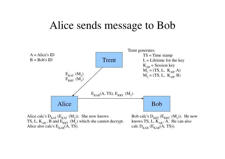 Alice sends message to Bob