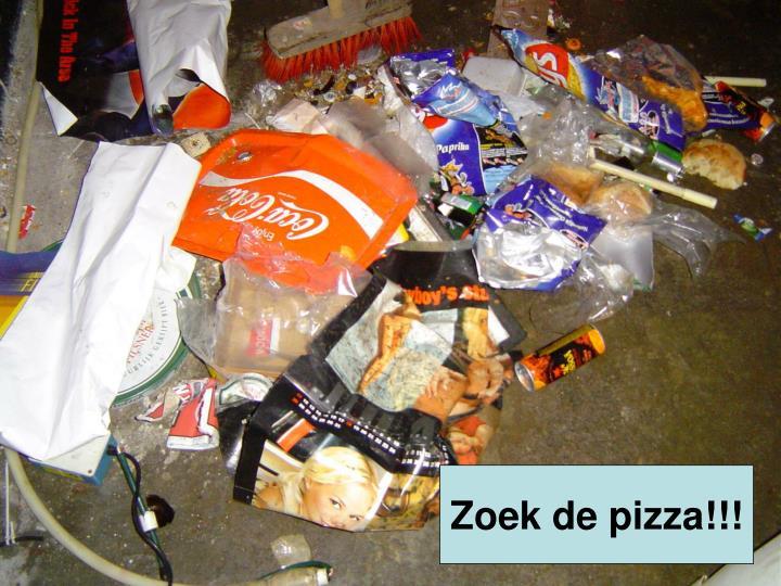 Zoek de pizza!!!