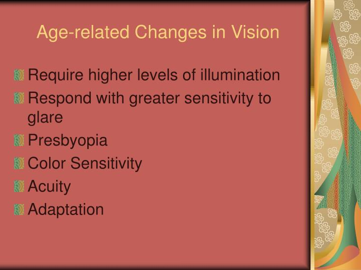 Age-related Changes in Vision