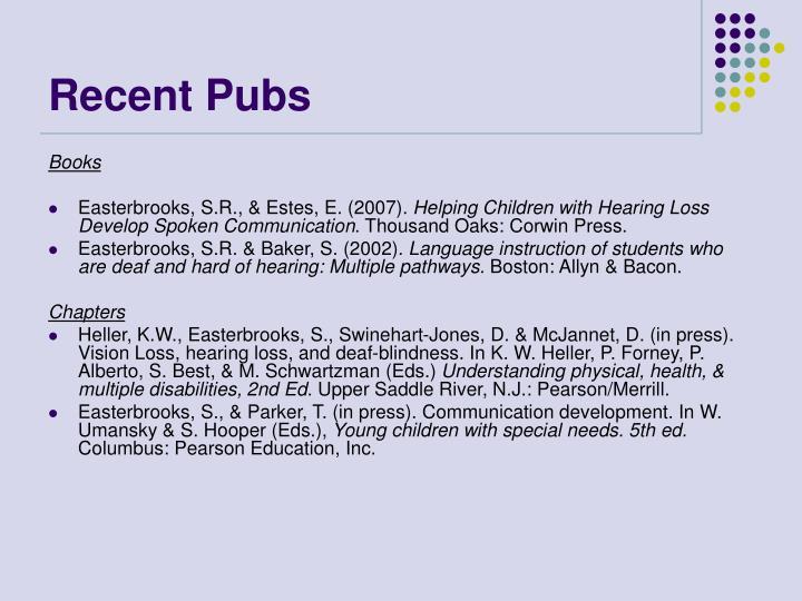 Recent Pubs