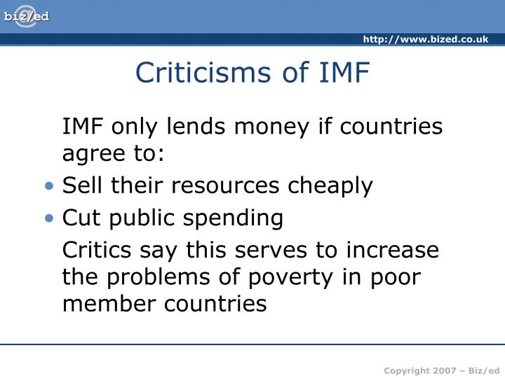 Criticisms of IMF
