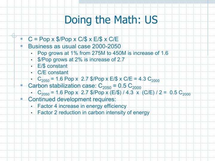 Doing the Math: US