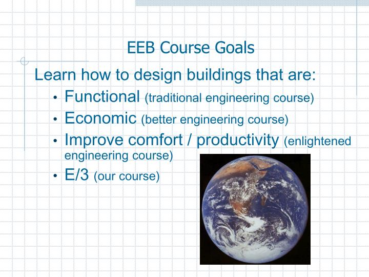 EEB Course Goals