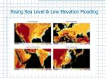 rising sea level low elevation flooding