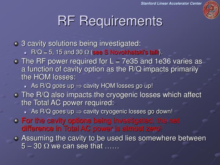 RF Requirements