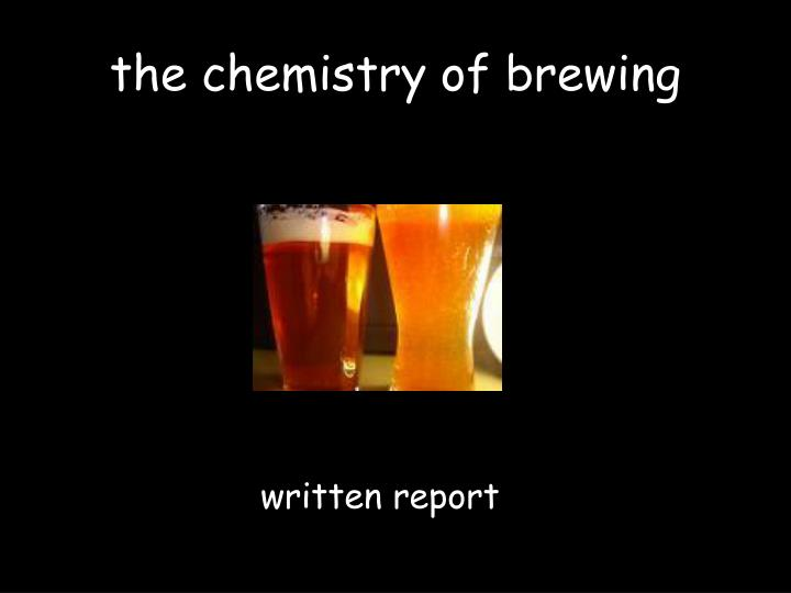 the chemistry of brewing