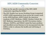 hiv aids community concerns