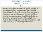 hiv aids community specific concerns5