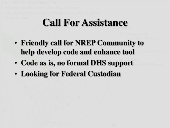 Call For Assistance