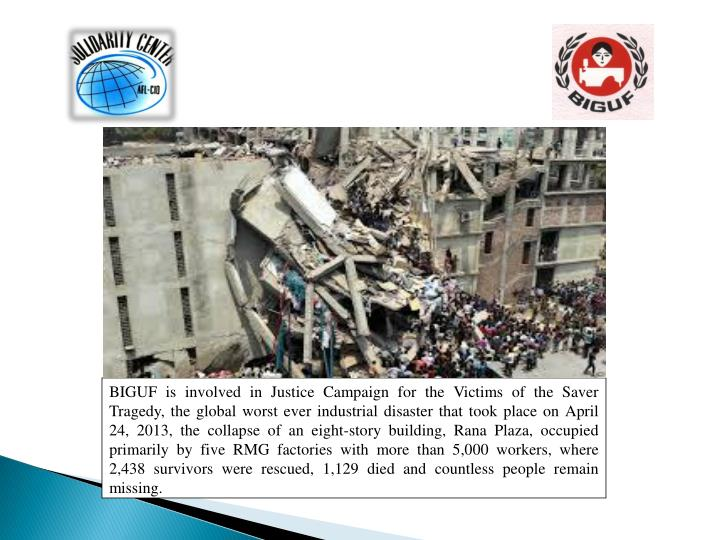 BIGUF is involved in Justice Campaign for the Victims of the Saver Tragedy, the