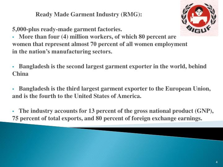 Ready Made Garment Industry (RMG):