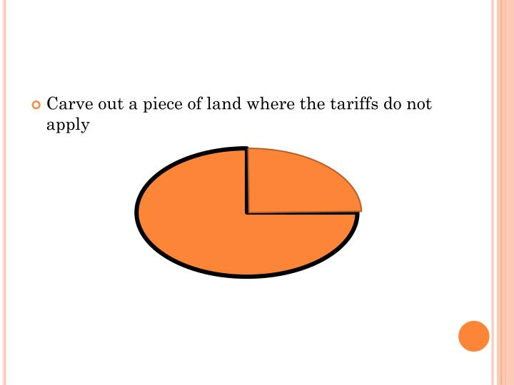 Carve out a piece of land where the tariffs do not apply