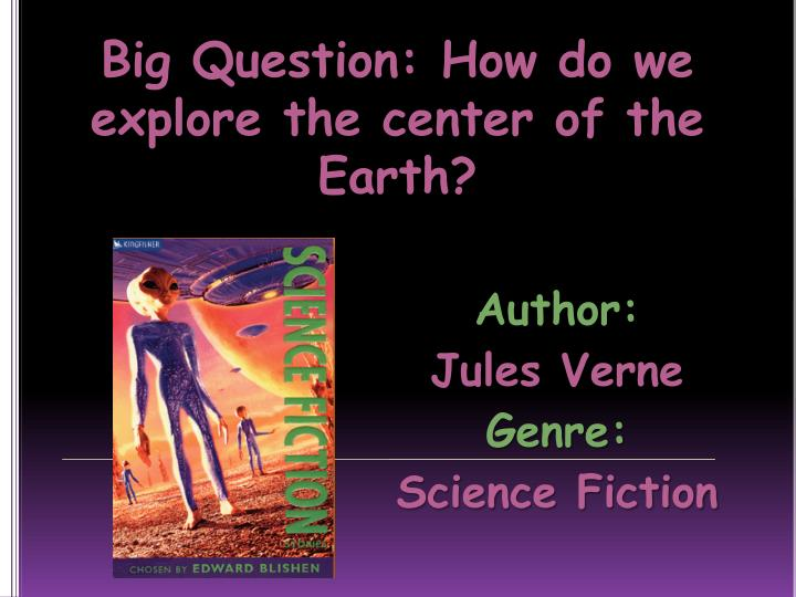 author jules verne genre science fiction
