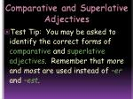 comparative and superlative adjectives15