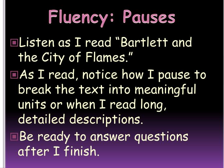 Fluency: Pauses