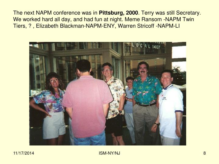 The next NAPM conference was in