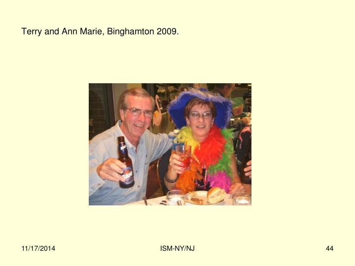 Terry and Ann Marie, Binghamton 2009.