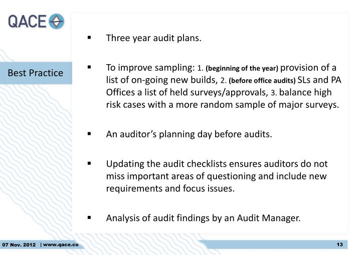Three year audit