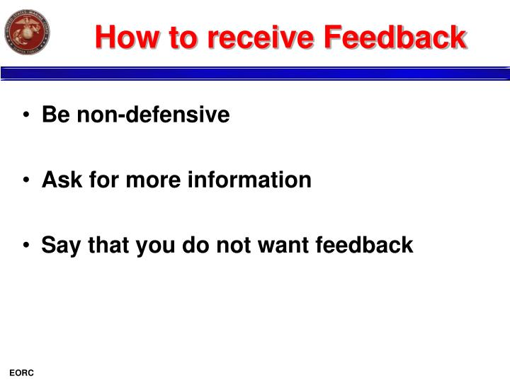 How to receive Feedback