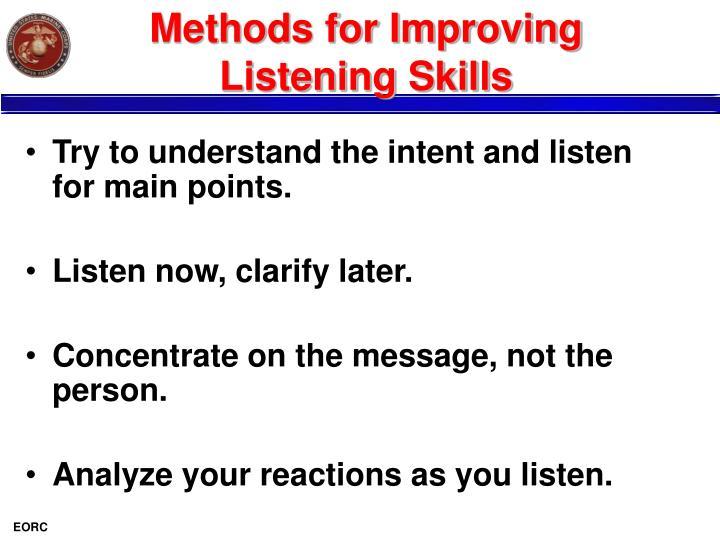 Methods for Improving