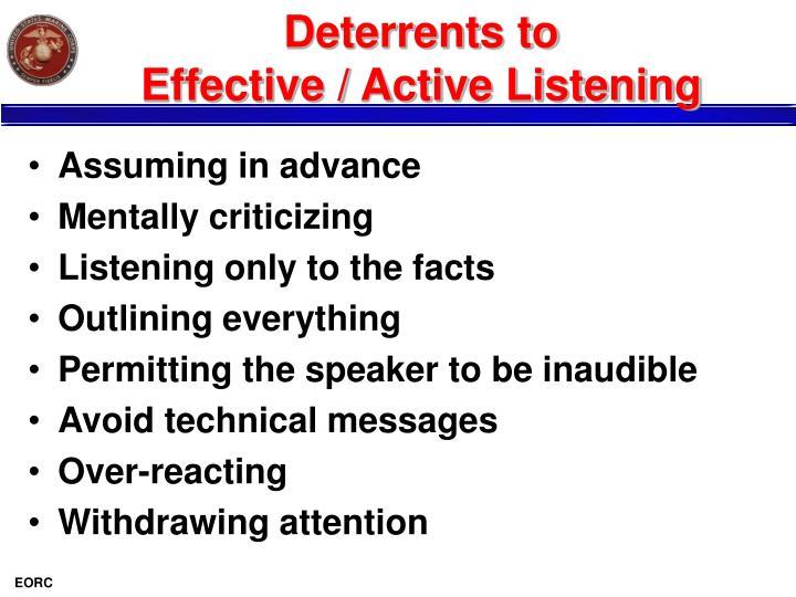 Deterrents to