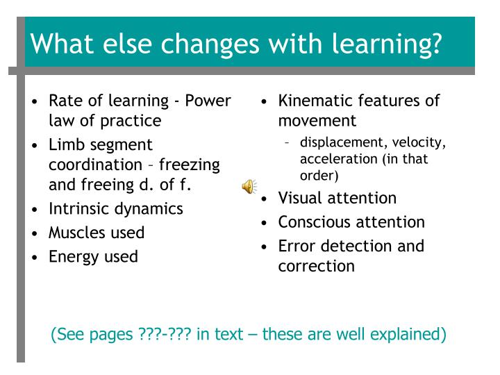 Rate of learning - Power law of practice
