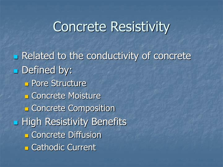 Concrete Resistivity