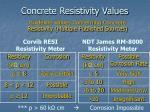 concrete resistivity values