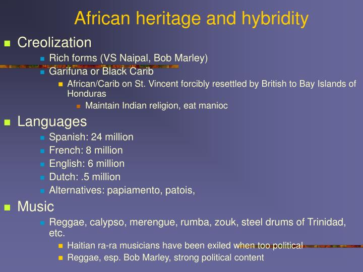African heritage and hybridity