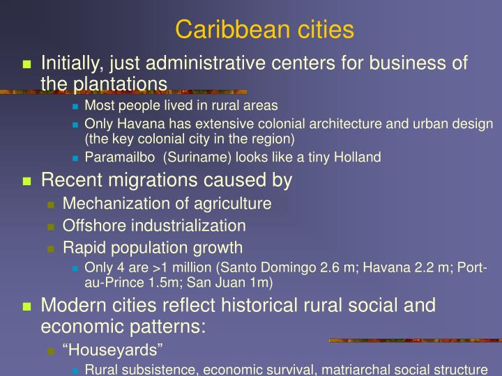 Caribbean cities