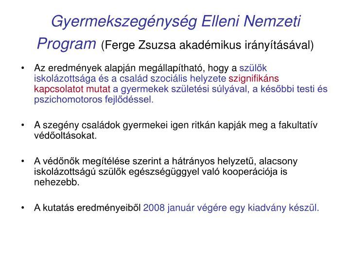 Gyermekszegénység Elleni Nemzeti Program