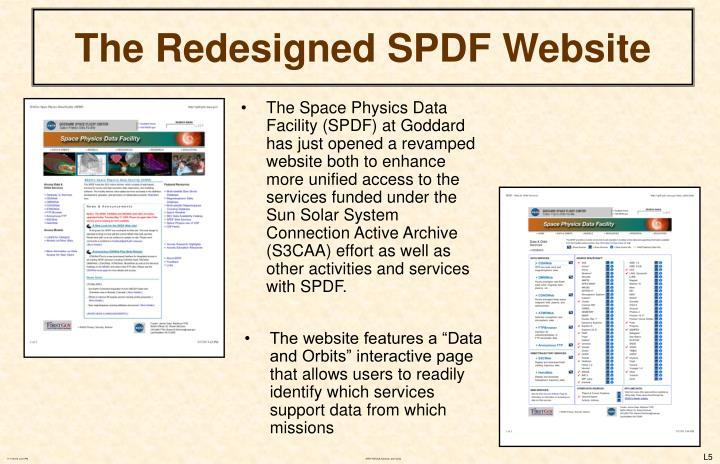 The Redesigned SPDF Website