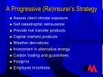 a progressive re insurer s strategy