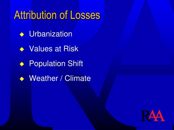 Attribution of Losses