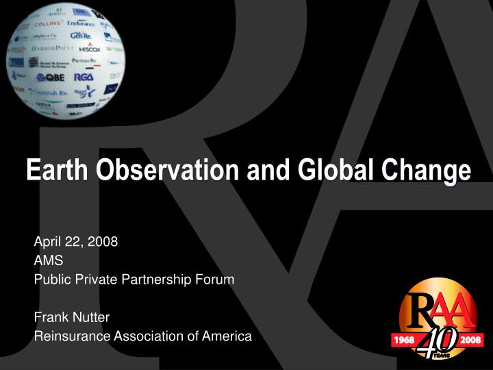 Earth Observation and Global Change