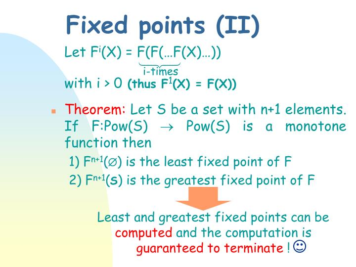 Fixed points (II)
