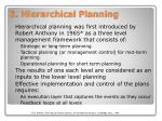 2 hierarchical planning