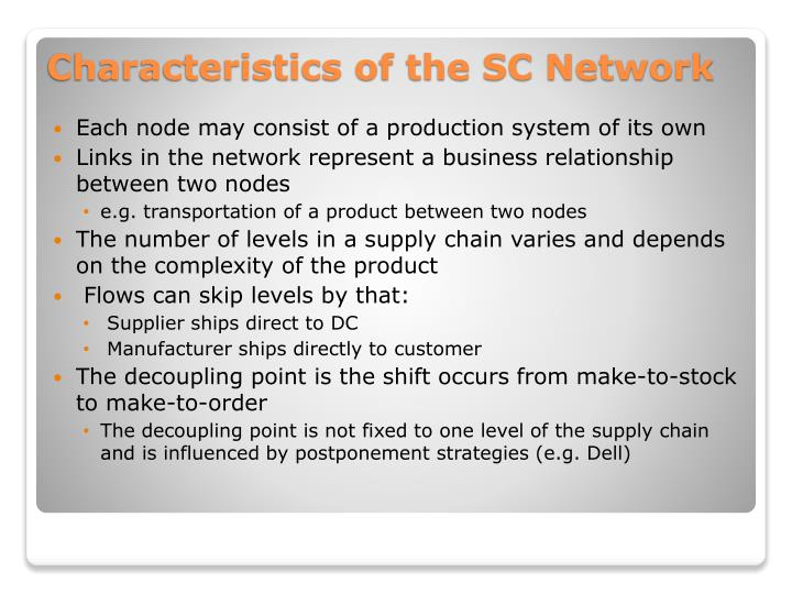 Each node may consist of a production system of its own