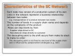 characteristics of the sc network